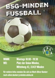 Fussball Training @ Sportplatz Union Minden